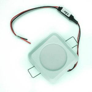 Luminária de Cabine Embutir Plástica Quadrada LED 3.6W 12V