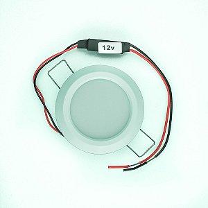Luminária de Cabine Embutir Plástica em LED 3.6W 12V
