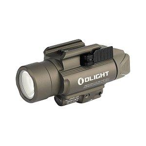Lanterna p/ Pistola Ambidestra c/ Laser Olight Baldr RL TAN