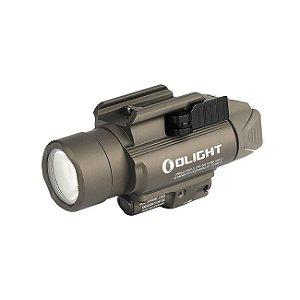 Lanterna p/ Pistola Ambidestra c/ Laser Olight Baldr PRO TAN