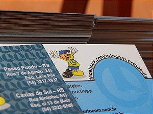 Cartões de Visita - Couchê - 300g - 4X4 Verniz Localizado F/V