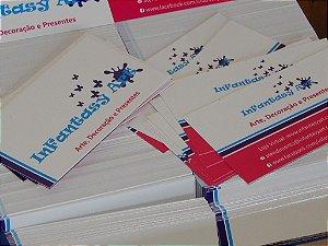 Cartões de Visita - Couchê - 250g - 4x4 Verniz Total F/V