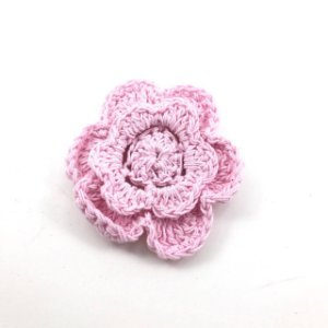 Flor de Crochê com tic tac