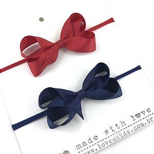 Kit faixa GO M marinho e vermelho