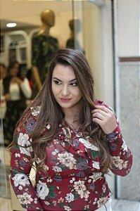 Blusa Alexia com Babados Transpassado- Moda feminina Evangélica