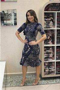 Vestido Miriam em Jacquard - Moda Cristã Feminina