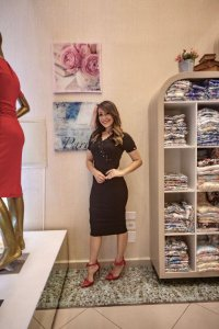 Vestido Márcia em malha Canelada - Preto - Moda Feminina Evangélica