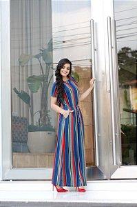 Vestido Longo Rose  Enncante - Moda Feminina