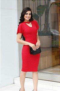 Vestido Alessandra Vermelho - Enncante - Moda Executiva