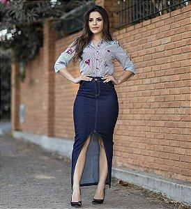 Saia Jeans Longa - Moda Feminina