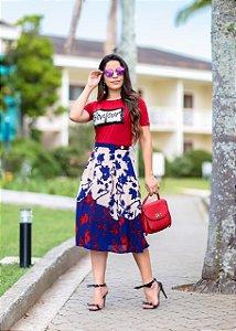 Saia Juliana Floral  - Moda Cristã
