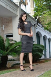Vestido Alessandra Preto -  Moda Executiva