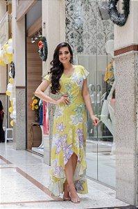 Vestido Mullet Angela Amarelo - Moda Feminina