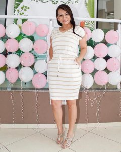 Vestido Ariane Off white - Moda Feminina Moda Evangélica