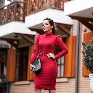 bead38e5a Vestido Lolita Vermelho Malha Canelada Premium - Moda Feminina