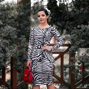 9eb23c67e Vestido Pilar em Suplex Zebra - Moda Feminina