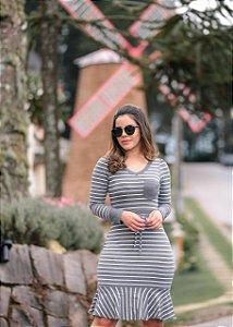 72d87ec2f Vestido Yara Cinza - Moda Feminina