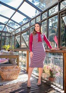Samantha Vinho Malha jacquard ( Camisa + Vestido) - Moda Feminina