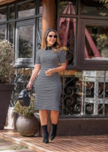 Vestido LiLian Malha Canelada Premium - Moda Feminina