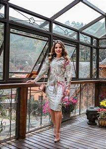 Vestido Manuela Off-white - Moda Feminina