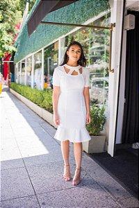 Vestido Bianca Off Whinte - Moda Feminina evangelica