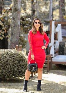 Conjunto Lis Vermelho  - Moda Feminina