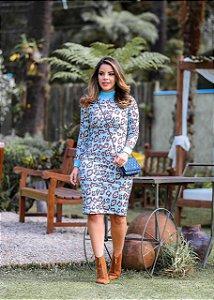 Vestido Alba Azul - Moda Feminina