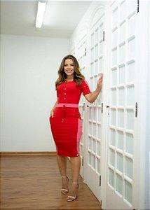 Vestido Carolina Viscolaycra Vermelho - Moda Feminina