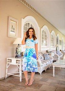 Vestido Bruna Tie Day Azul - Moda Feminina