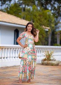 Vestido Longo Marina - Moda Feminina