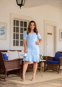 Vestido Ester Azul Claro - Moda Feminina