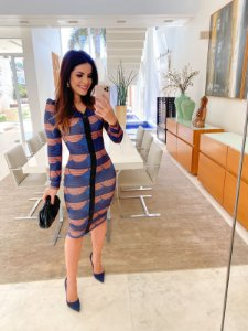Vestido Paula Azul - Ellas Modas