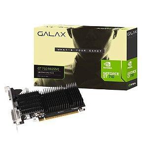 Placa de Vídeo NVidia GeForce GT710 1GB DDR3 64Bits Perfil Baixo Galax - (1x VGA / 1x DVI-D / 1x HDMI)