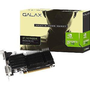 Placa de Vídeo NVidia GeForce GT710 2GB DDR3 64Bits Perfil Baixo Galax - (1x VGA / 1x DVI-D / 1x HDMI)