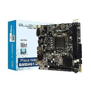 M1155 Placa Mãe LGA1155 Bluecase BMBH61-D DDR3 (2x DDR3 / 1x PCIe 2.0 x16 / 1x PCIe 2.0 x1 / 6x USB 2.0 / 1x VGA / 1x HDMI )