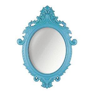 Espelho Oval - Azul Turquesa
