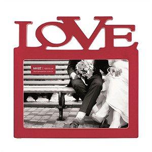 Porta Retrato Vermelho - Love