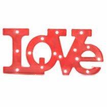 Letreiro Love com Led - Vermelho