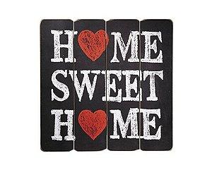 Placa Decorativa de Madeira - Home Sweet Home