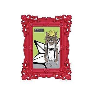 Porta Retrato Retrô 10x15cm - Vermelho