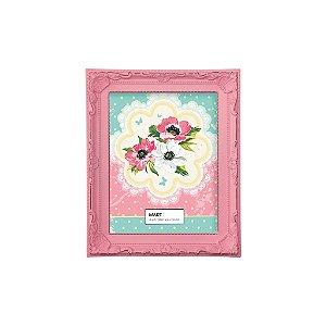 Porta Retrato Antique 10x15cm - Rosa Candy