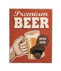 Abridor de Garrafas de Parede - Premium Beer
