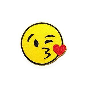 Patch Emoticon Beijos e Coração