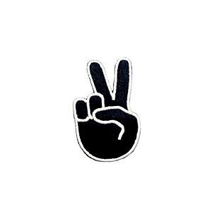 Patch Emoticon Mão - Paz e amor