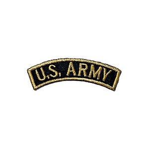 Patch Brasão US Army - Preto com amarelo