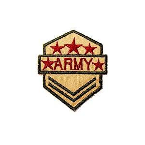 Patch Brasão Army Amarelo e vermelho