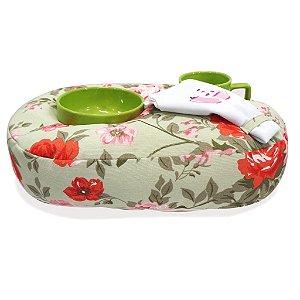 Kit de Chá - Verde Estampado de Flores
