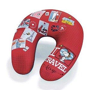 Almofada Massageadora de Pescoço Snoopy - I Love Travel