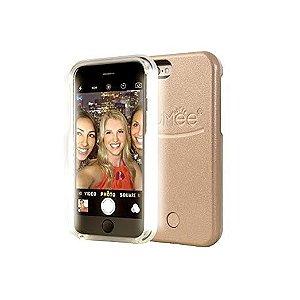 Capa Case com LED Dourada - Iphone 6/6S