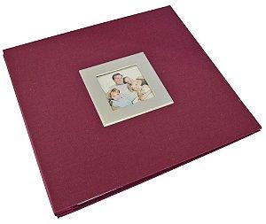 Álbum para Scrapbook Tecido Grande - Vinho